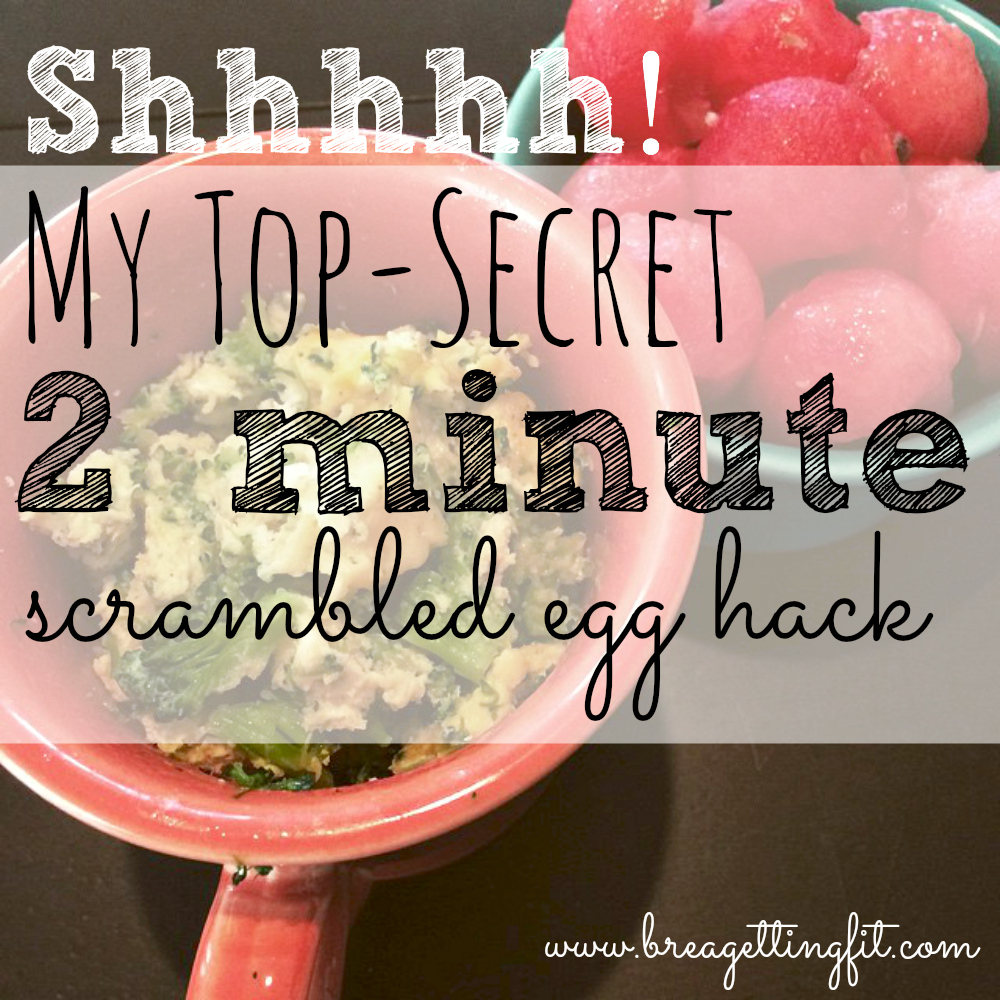 2 minute scrambled egg hack