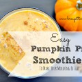 easy pumpkin pie smoothies
