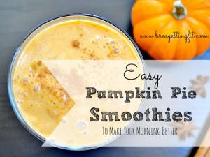 easy pumpkin pie smoothies