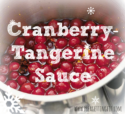 make your own cranberry sauce with some zing!