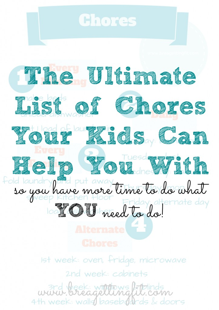 ultimate list of chores for kids