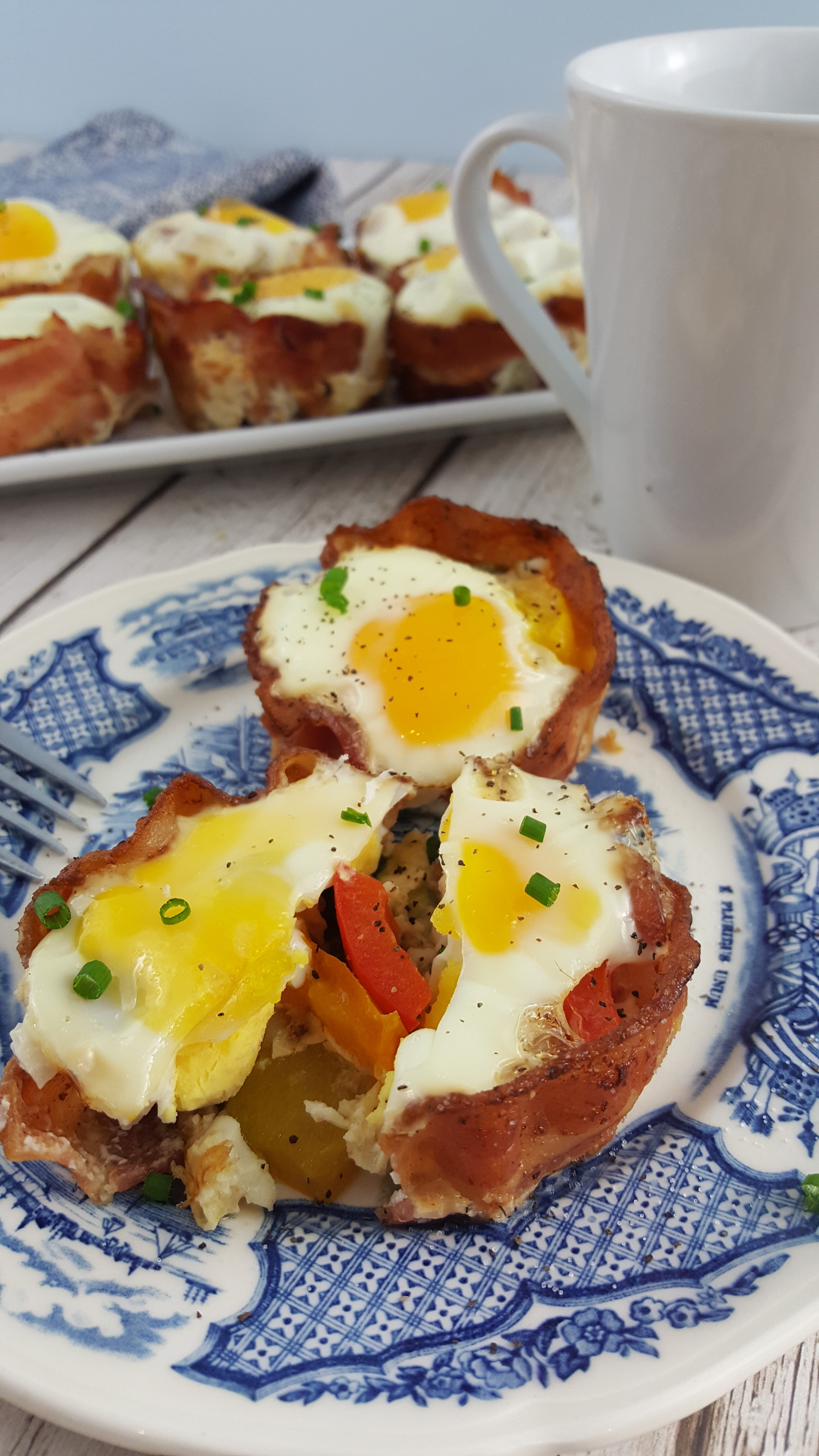 Paleo Bacon and Egg Veggie Cups