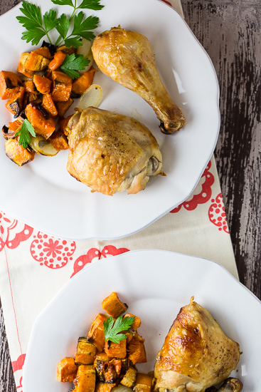 Maple Roasted Chicken with Sweet Potatoes