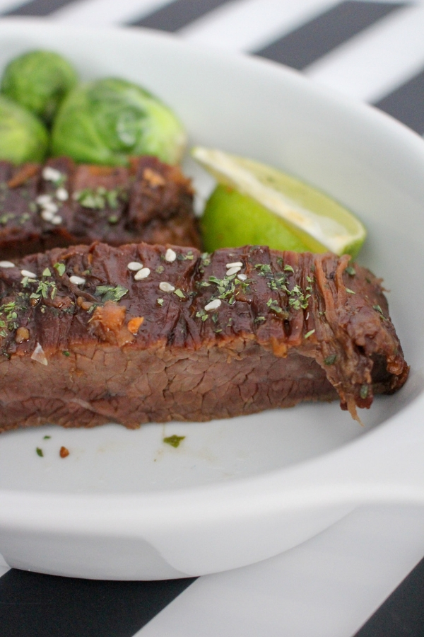 30 minute meal idea - Instant Pot Asian Flank Steak Recipe