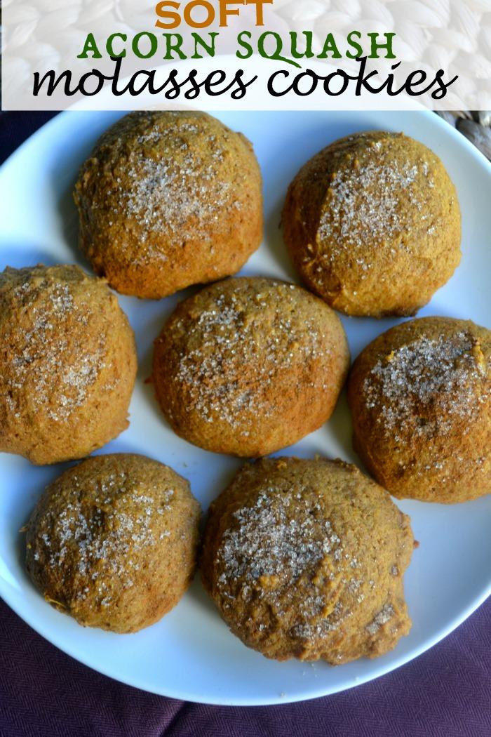 Soft Acorn Squash Molasses Cookie