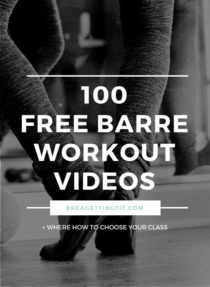 FREE BARRE WORKOUT VIDEOS