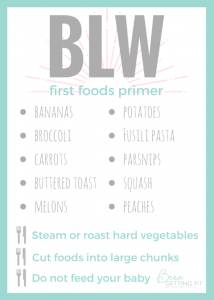 BLW first foods