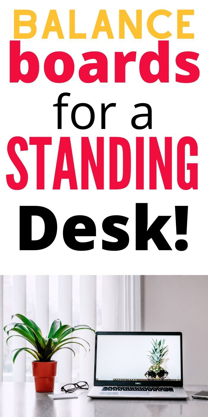 Stay in shape with any of these Best Balance Boards For Standing Desks! They are great for using at your office at home or on the job. #balanceboards #best #standingdesk #desk #work #office #breagettingfit