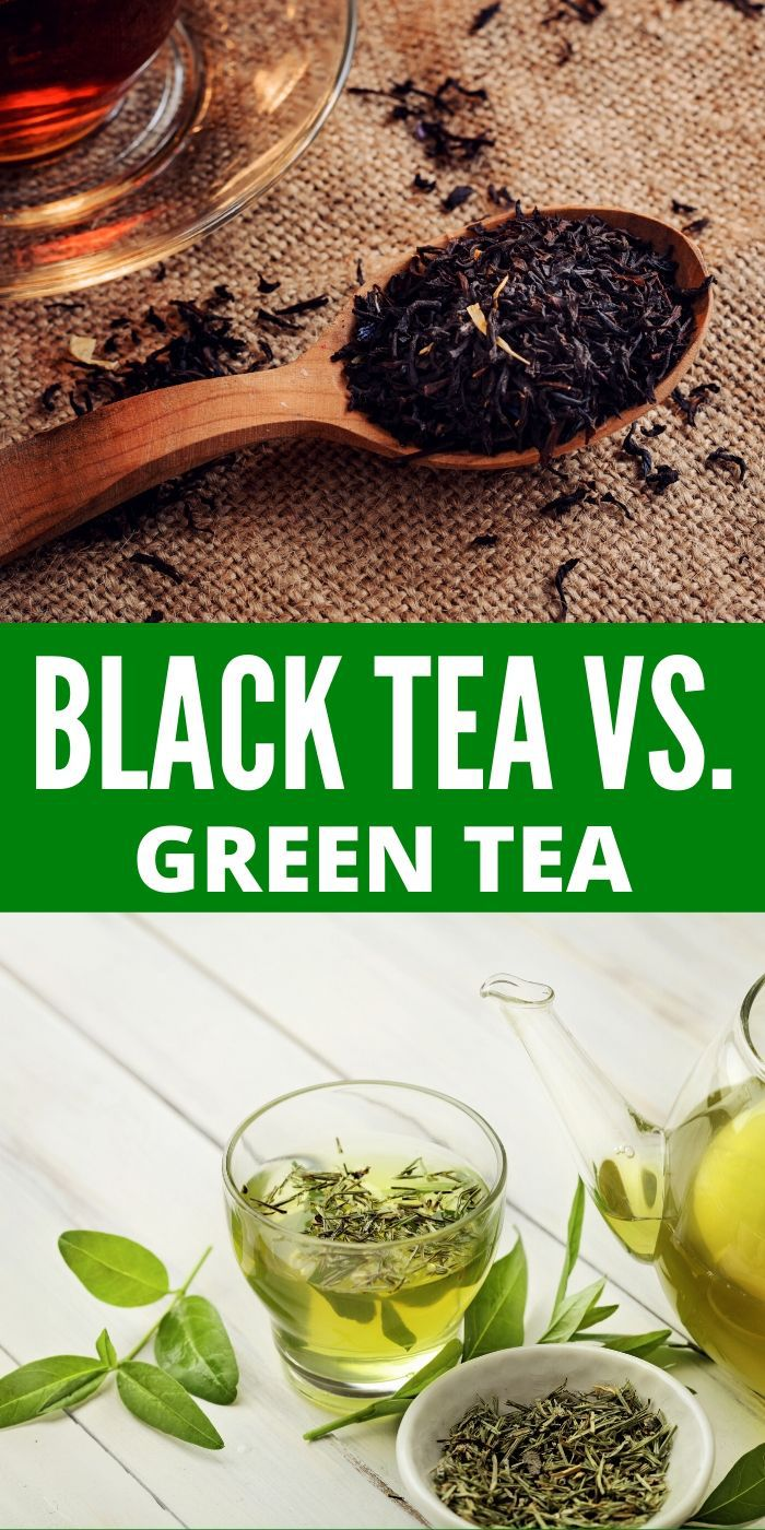 Wondering about the differences between black tea vs green tea? This post will go over those and give more details as well. #blacktea #greentea #tea #healthy #drinks #breagettingfit
