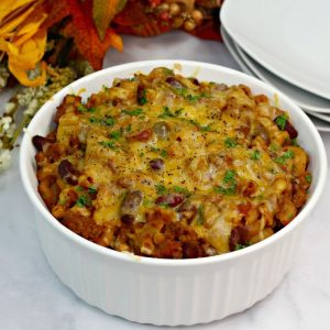 Every taste of this Easy Homemade Turkey Chili Mac And Cheese is incredible! Chili macaroni is soon to be your new favorite dish. Try it and see. #chilimacandcheese #turkey #recipe #dinner #easy #simple #breagettingfit