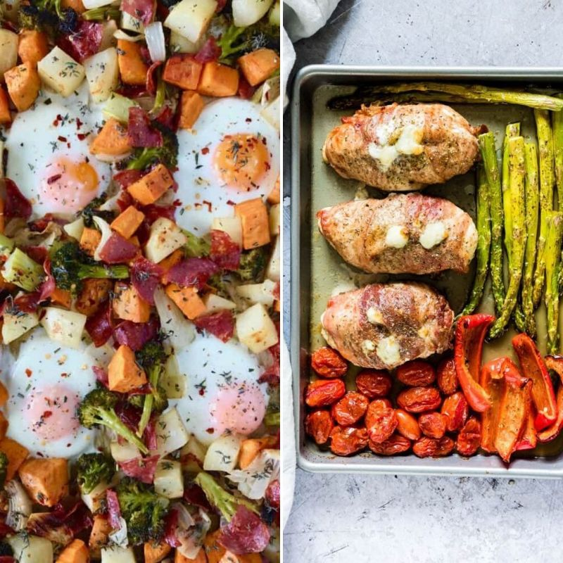 You can't help but drool when you see these Delicious Paleo Sheet Pan Meals! They are simple to make and taste heavenly. Paleo dinner ideas just got easier. #paleo #glutenfree #easy #sheetpan #dinner #simple #dairyfree #breagettingfit