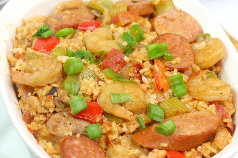 Instant Pot Jambalaya - Sink your teeth into this Instant Pot Jambalaya and you'll be in food heaven. It's packed with Cajun flavors and shrimp, chicken, and sausage. #jambalaya #shrimp #chicken #sausage #rice #easy #dinner #cajun #breagettingfit