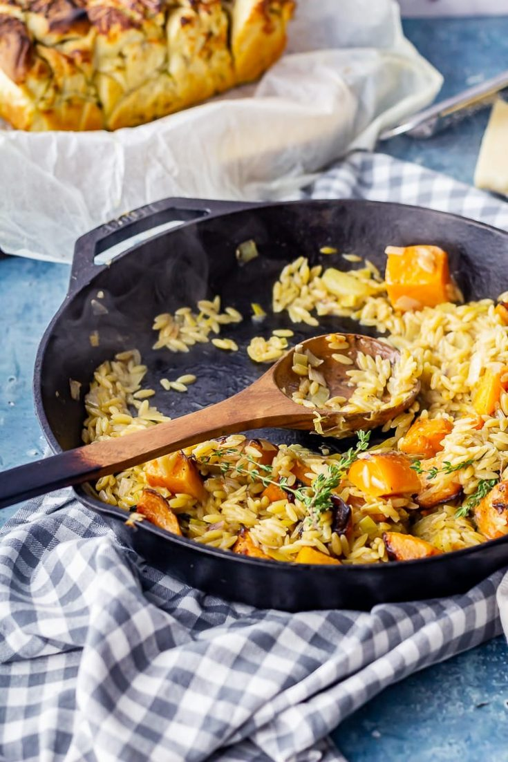 One Pot Orzo with Roasted Butternut Squash • The Cook Report