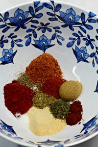 seasonings in bowl