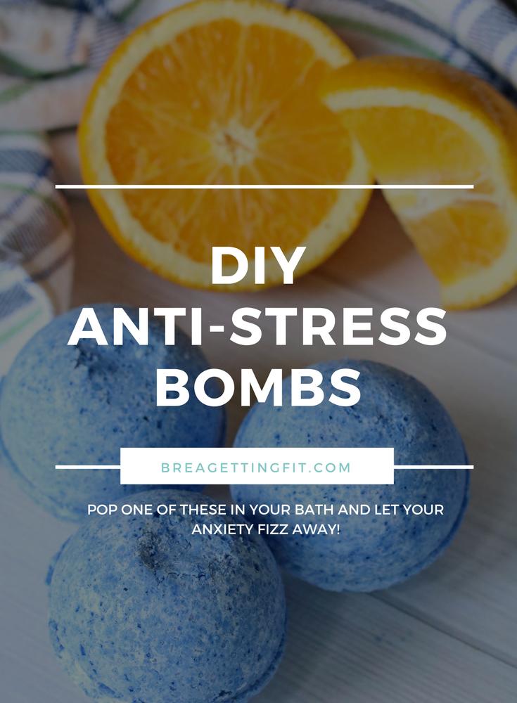 DIY Anti-Stress Bombs, how to make bath bombs,