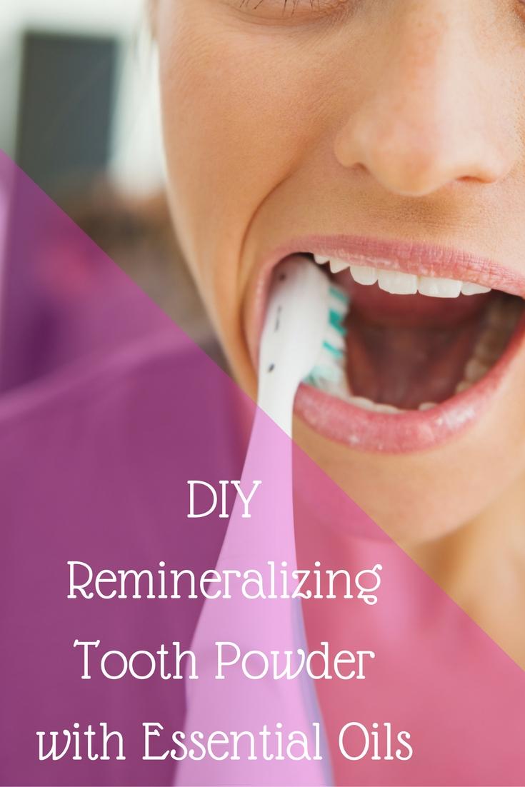 DIY remineralizing tooth powder
