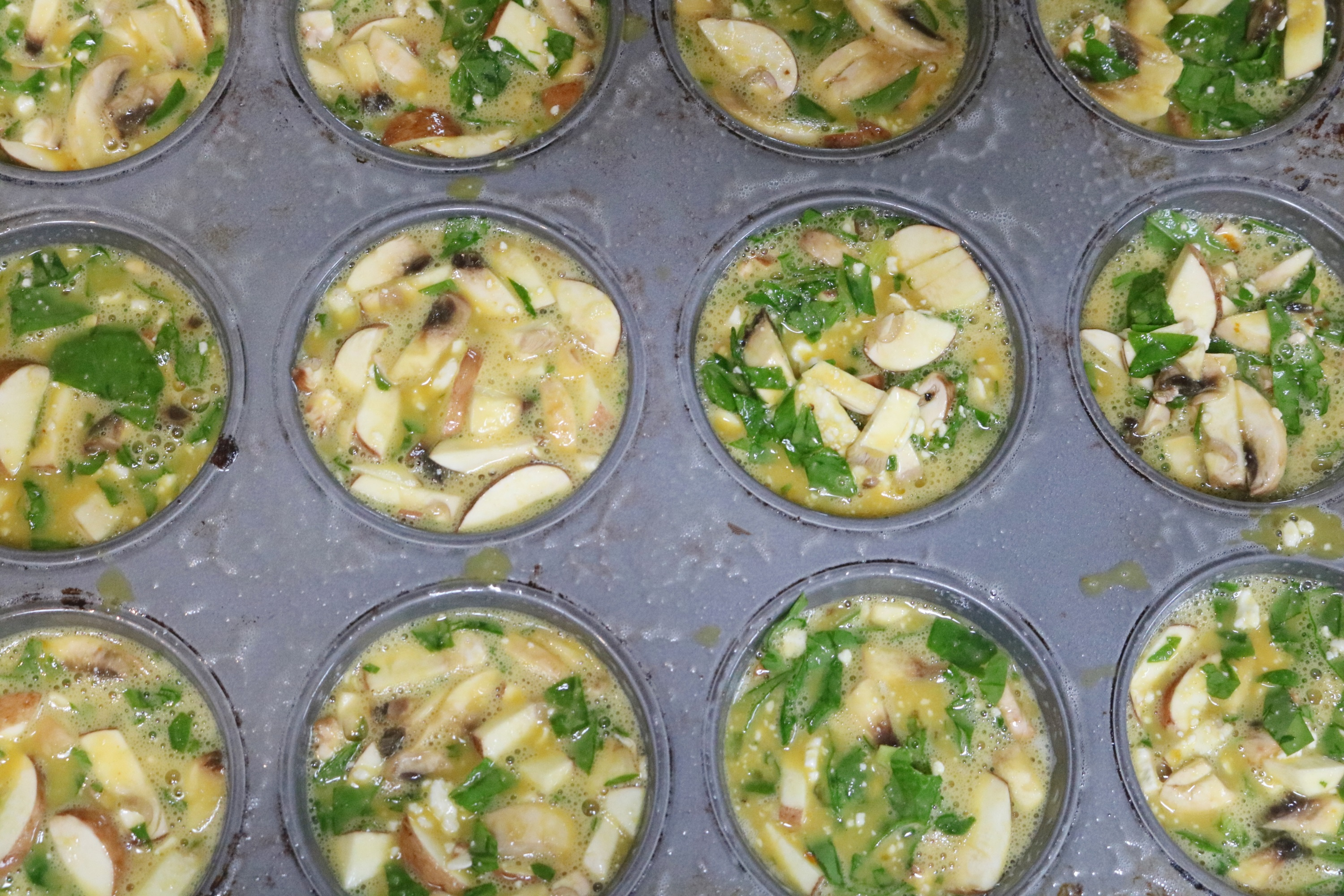 easy veggie packed egg muffins