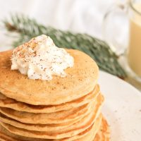 Easy Homemade Egg Nog Pancakes