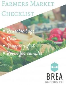 Farmers Market Checklist