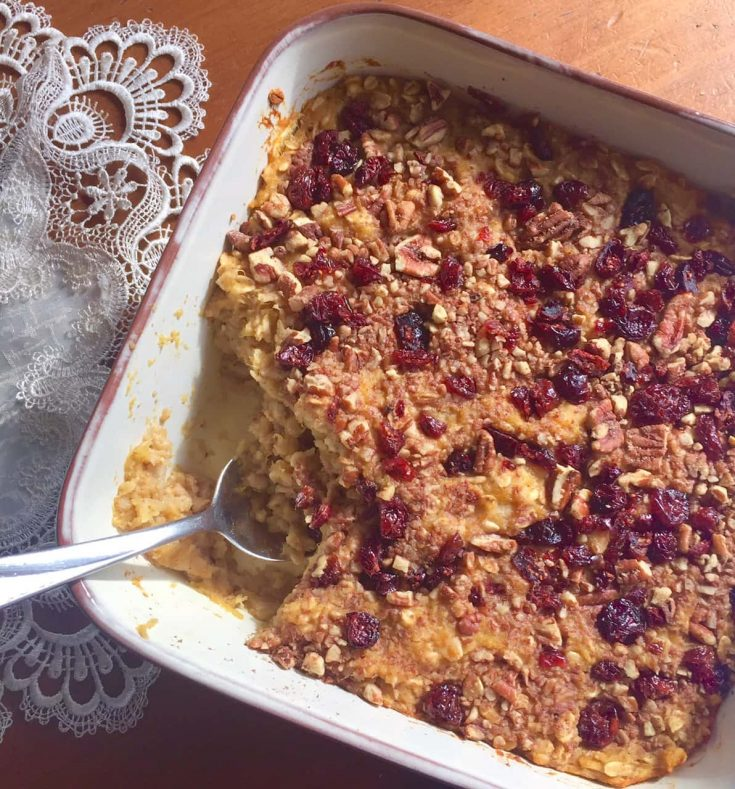 Acorn Squash Apple Baked Oatmeal