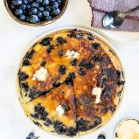 Giant Blueberry Vegan Pancake