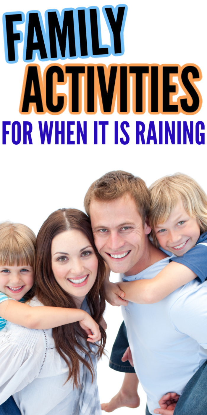 These Healthy Family Activity Ideas for When It's Raining will get your moving and grooving. Don't sit around all day! Get out and enjoy the rain. #rain #activities #family #healthy #rainyday #easy #creative #breagettingfit