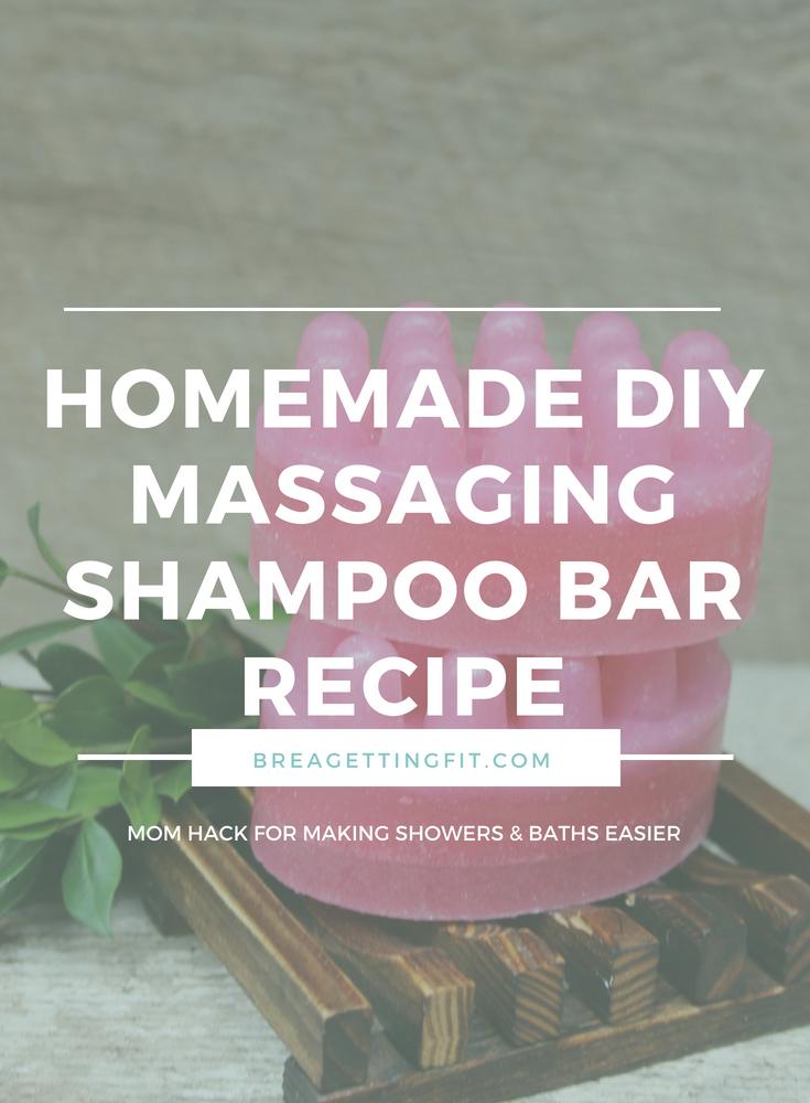 Homemade DIY Massaging Shampoo Bar Recipe