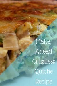 Make-Ahead Crustless Quiche Recipe