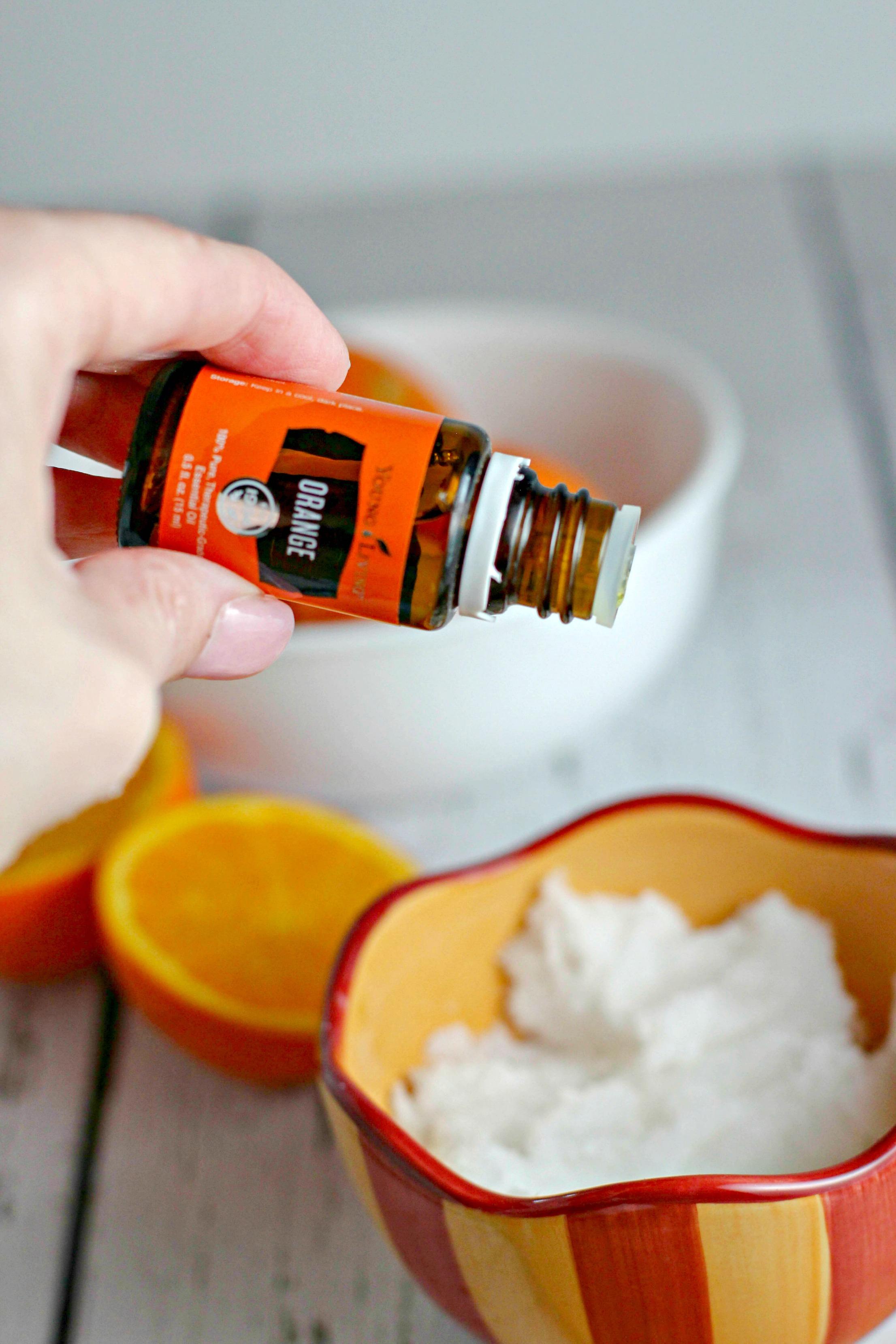 How to make Orange Coconut Sugar Scrub