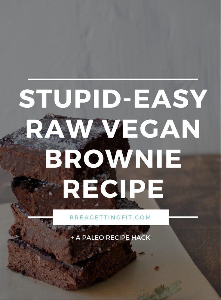 Easy raw vegan brownies