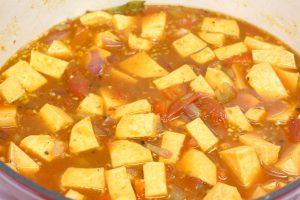 soup in pan