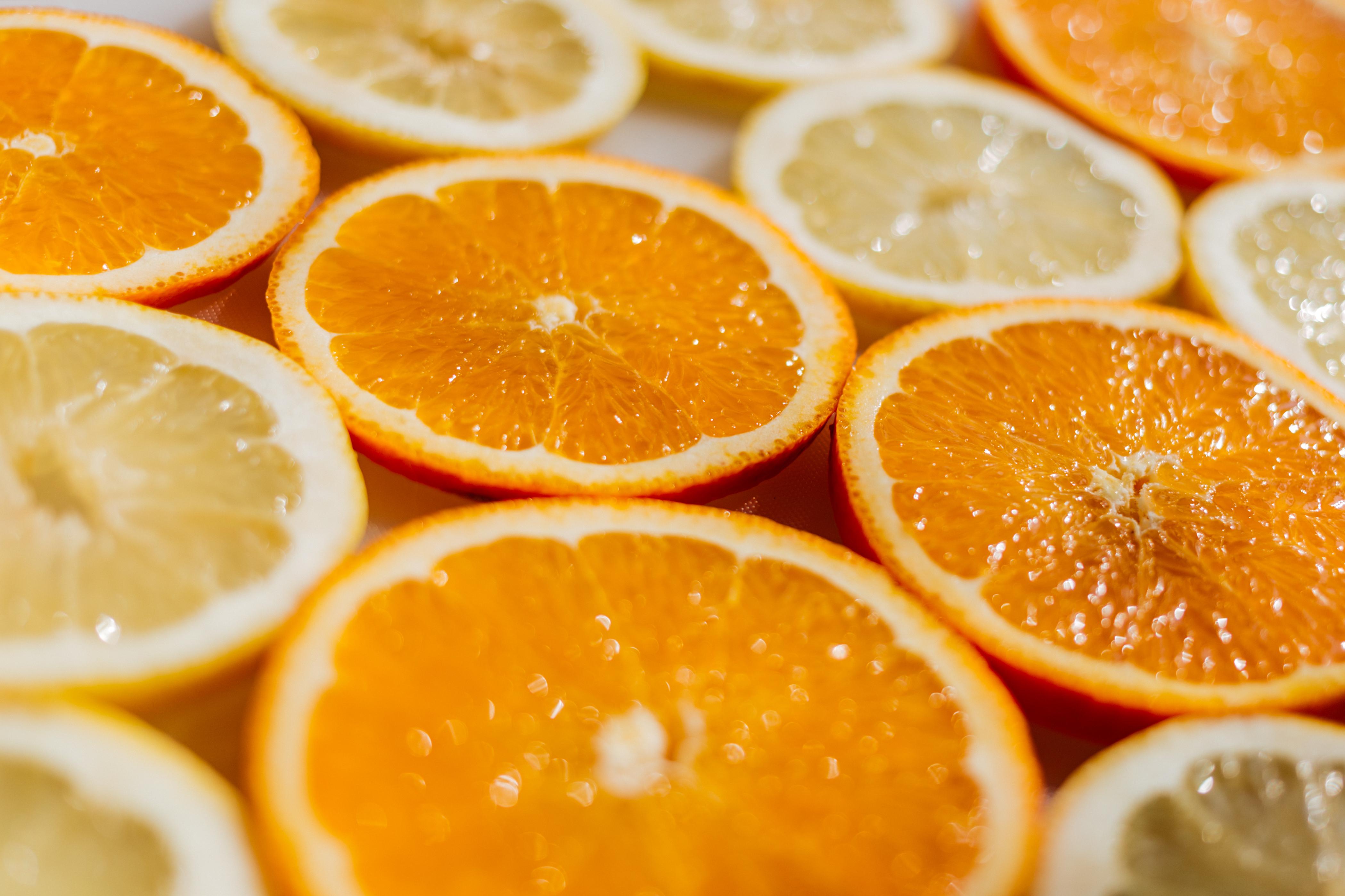 lemon orange fruit water