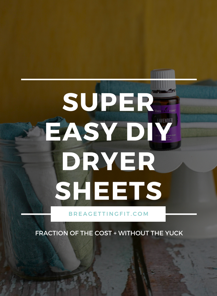 Tired of throwing money into your dryer (not literally of course)? I get it. That's why I started making my own DIY dryer sheets. They are so easy, and you can change the scent to suit your mood! #breagettingfit #diydryersheets #diy #laundry #natural #essentialoils #lavender #homemade #clean #scents #clothes #home #frugal