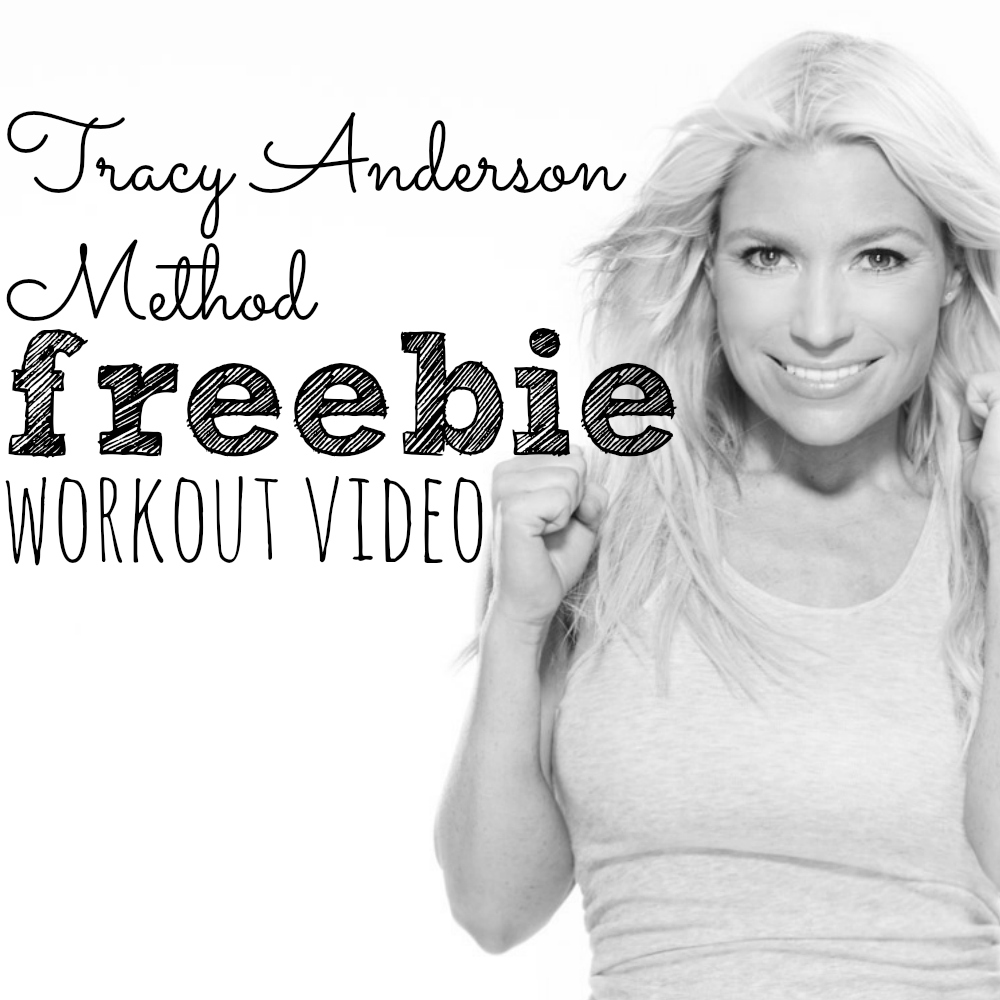 Try This Tracy Anderson Freebie Workout