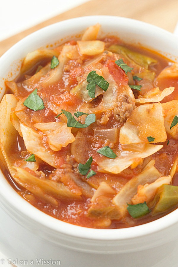 Unstuffed Cabbage Roll Soup Trim Healthy Mama Recipes
