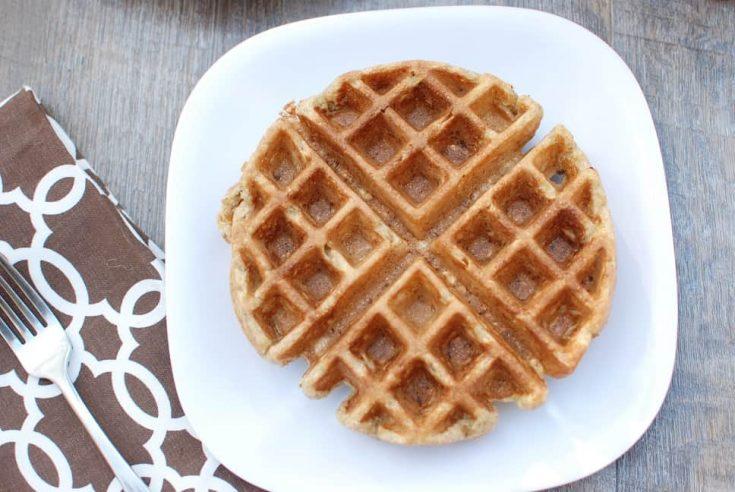 Acorn Squash Waffles {Whole Grain!}