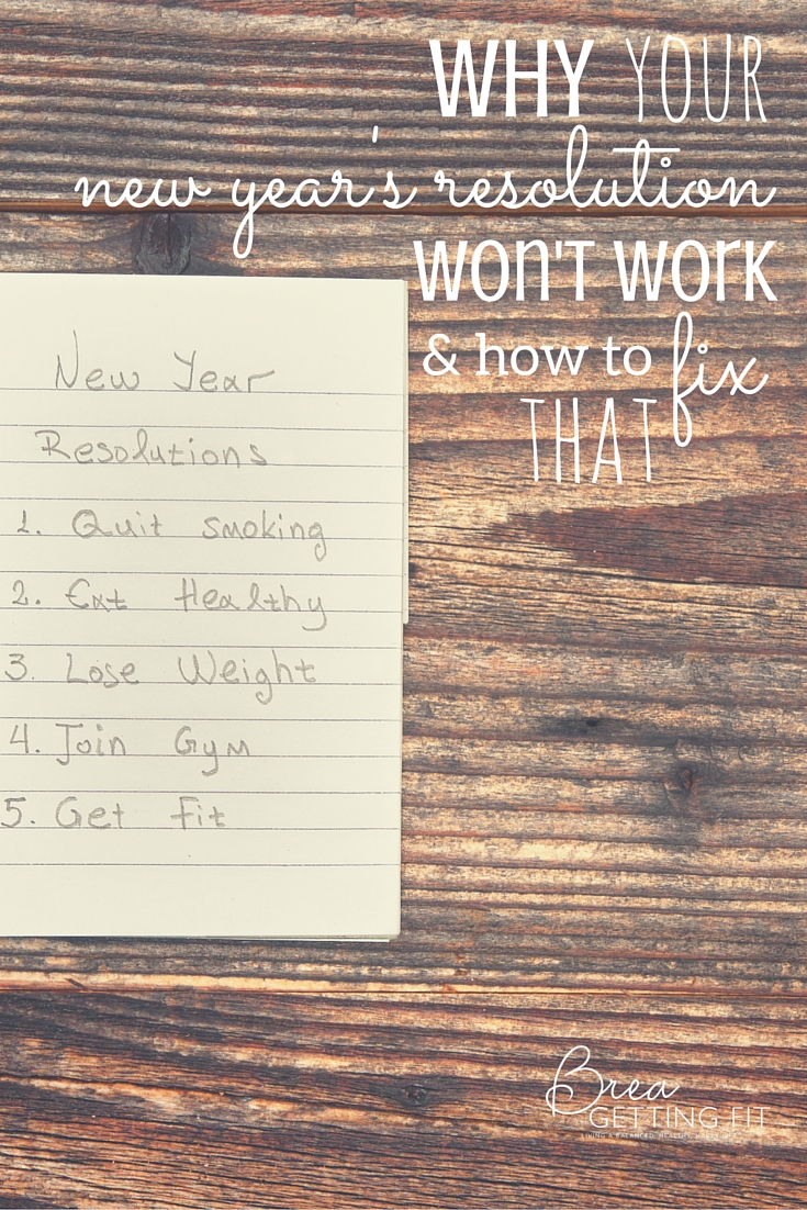 Your New Year's Resolution Don't Work (& How You Can Change That)