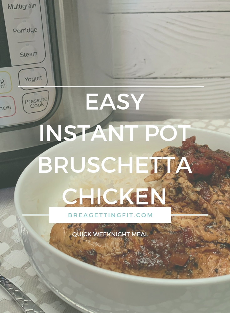 bruschetta chicken in bowl by Instant Pot