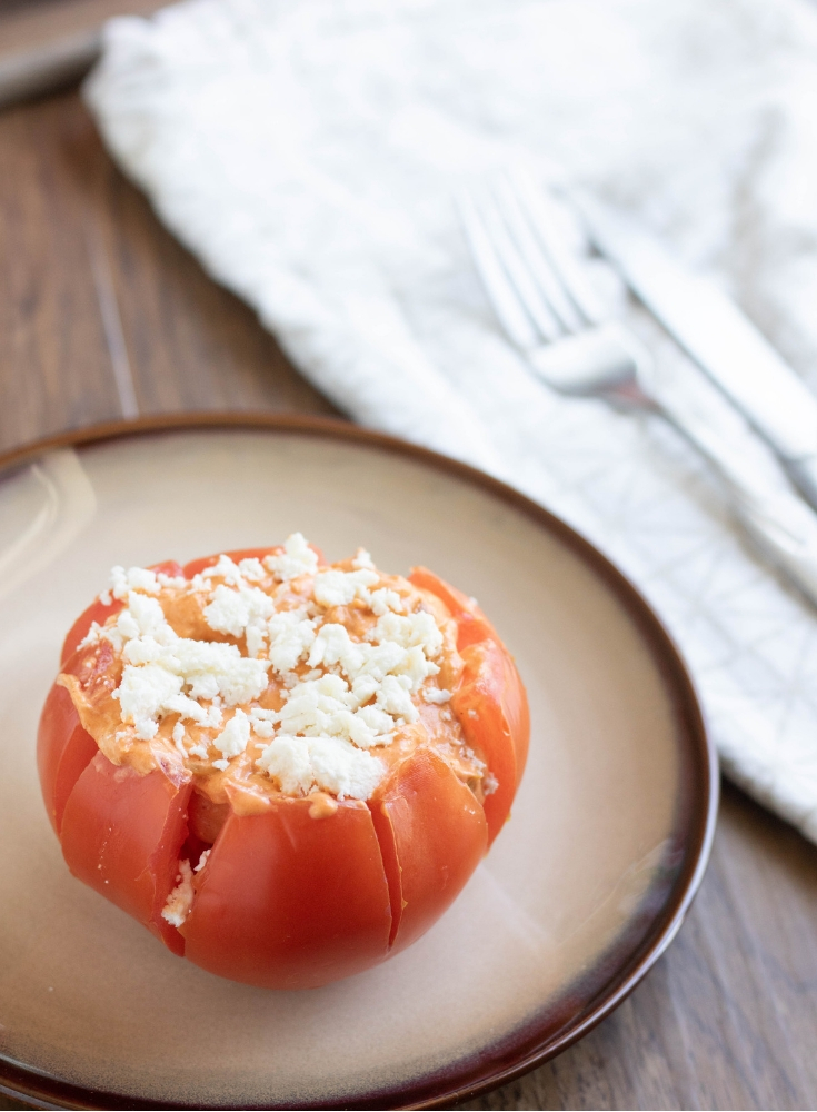 buffalo chicken stuffed tomatoes