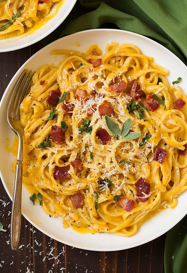 Butternut Squash Pasta Carbonara - Cooking Classy