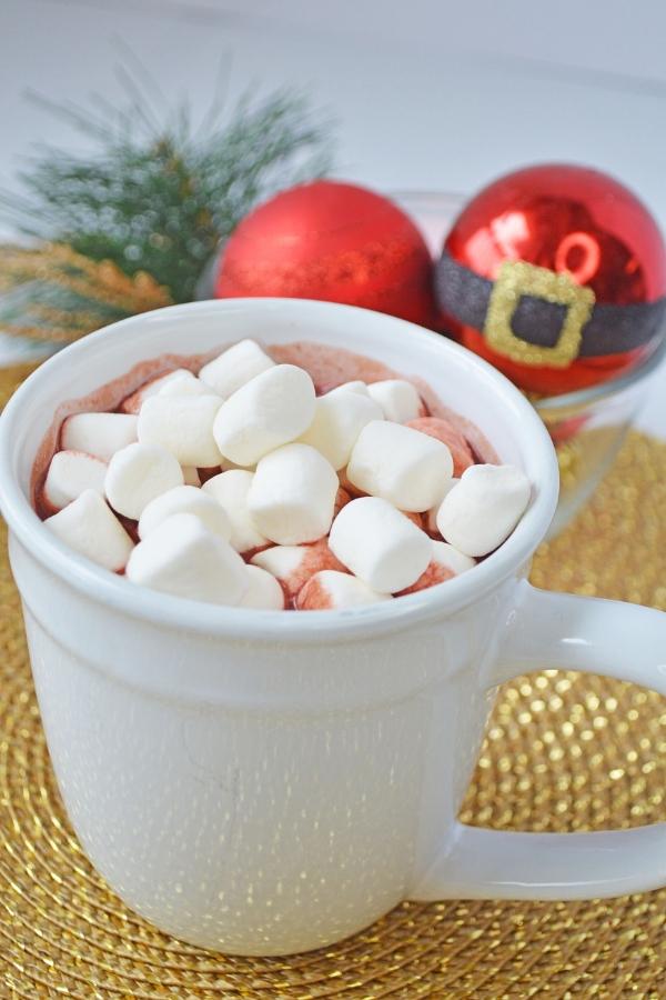 christmas red velvet hot chocolate