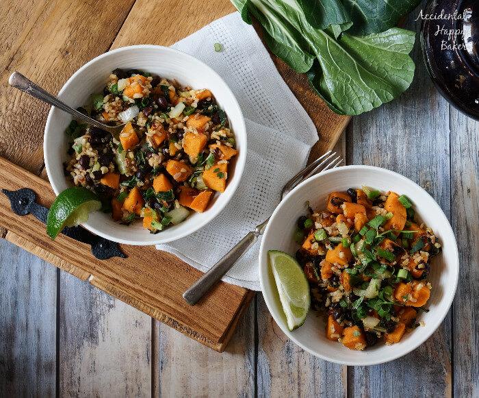 Sweet Potato Sweet Chili Bowls