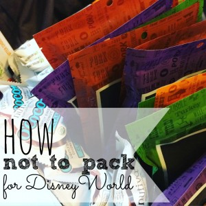 Packing for Disney World was kind of a disaster...