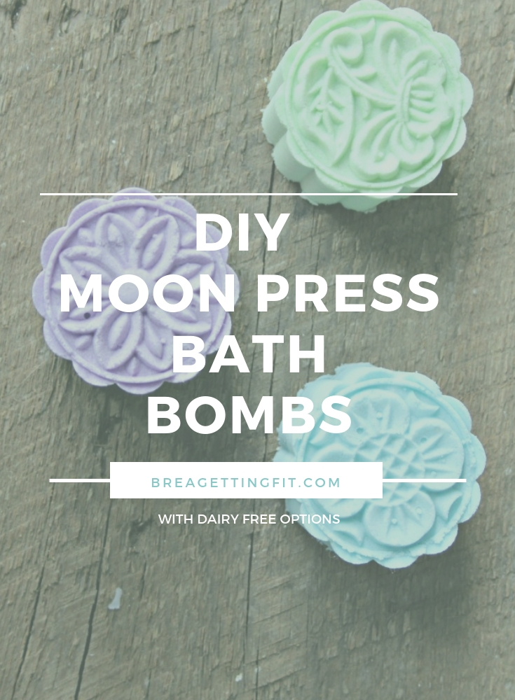 diy moon press bath bombs