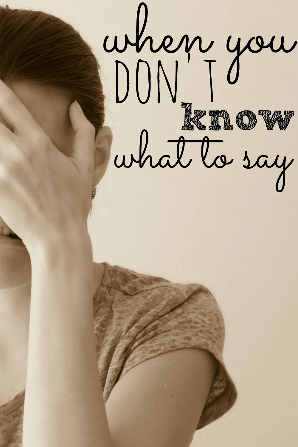 When you don't know what to say, sometimes the best thing is to think...