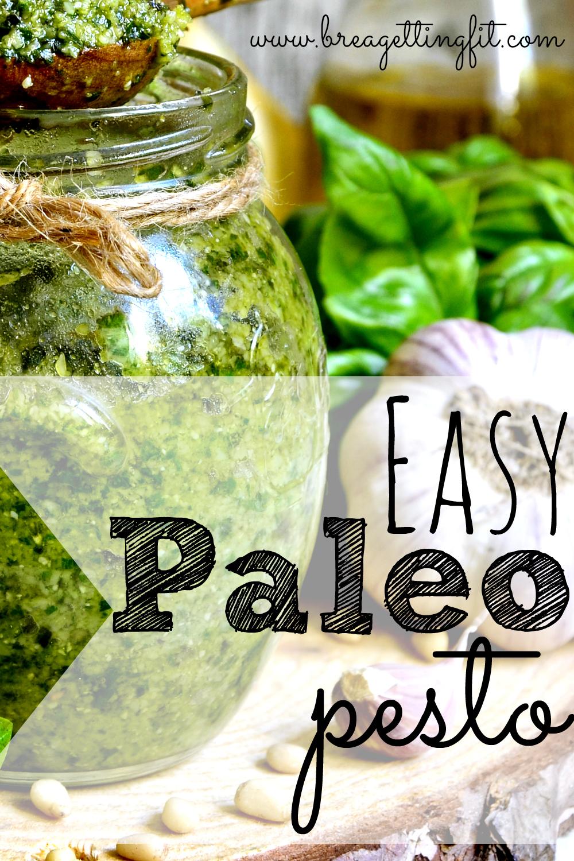 Super easy paleo pesto using fresh ingredients.