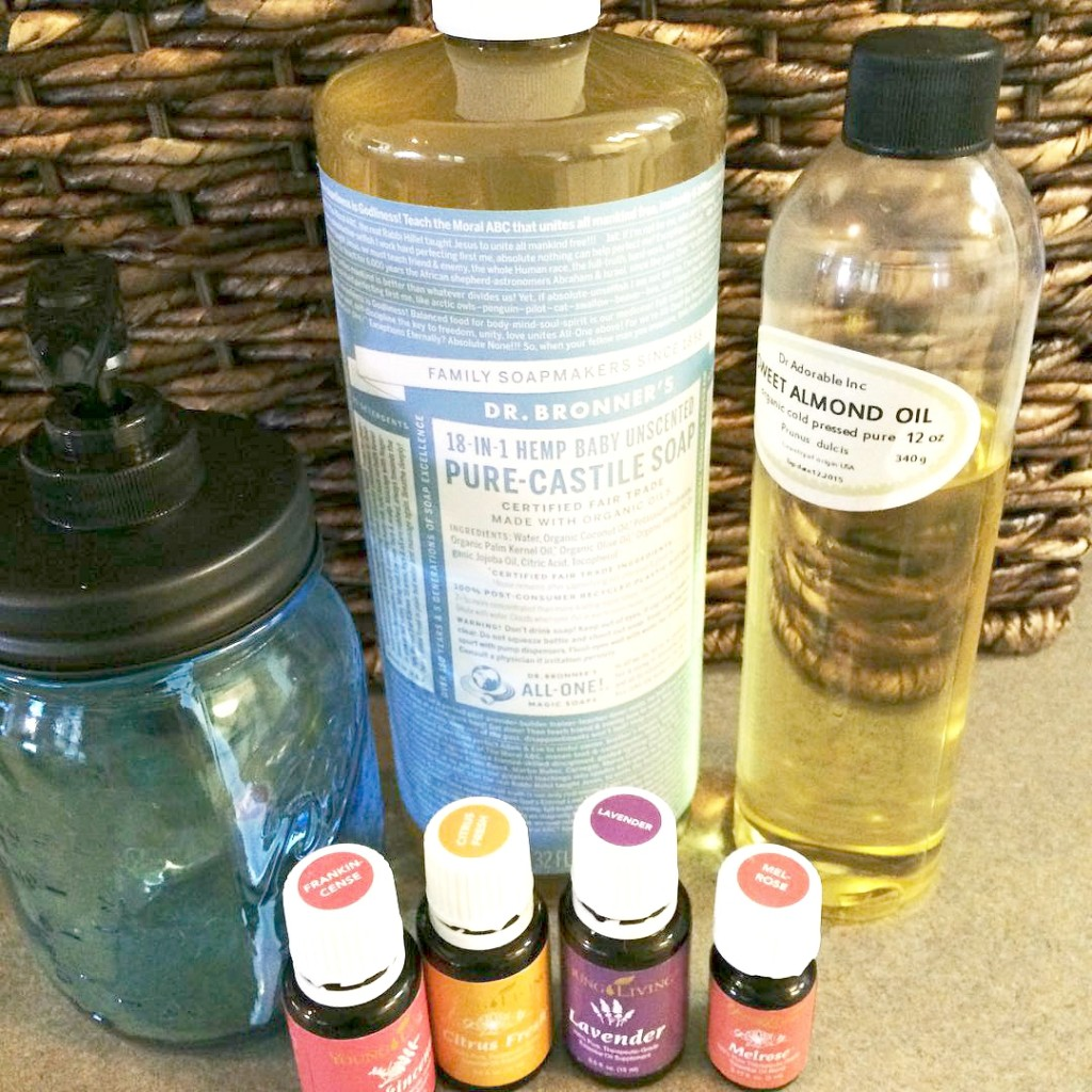 Super easy DIY face wash recipe ingredients