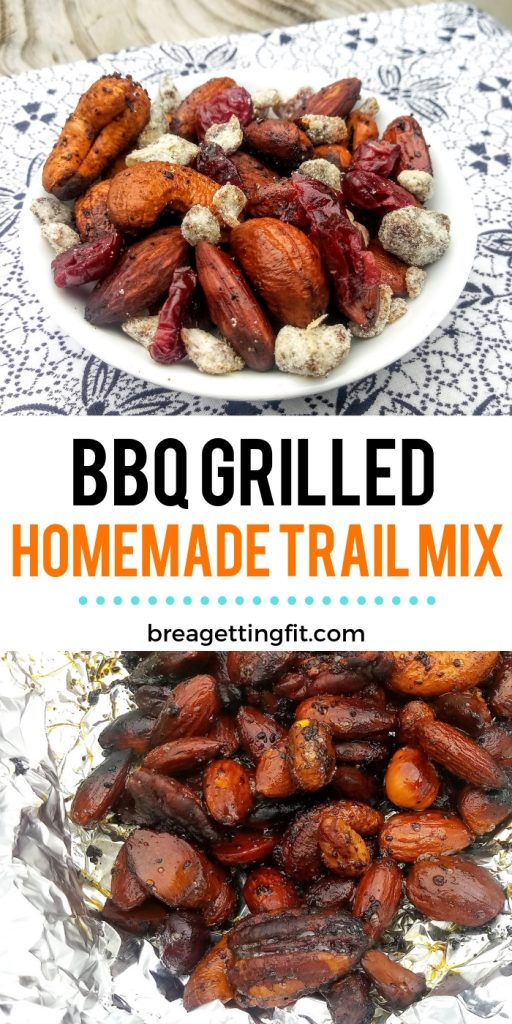grilled homemade trail mix