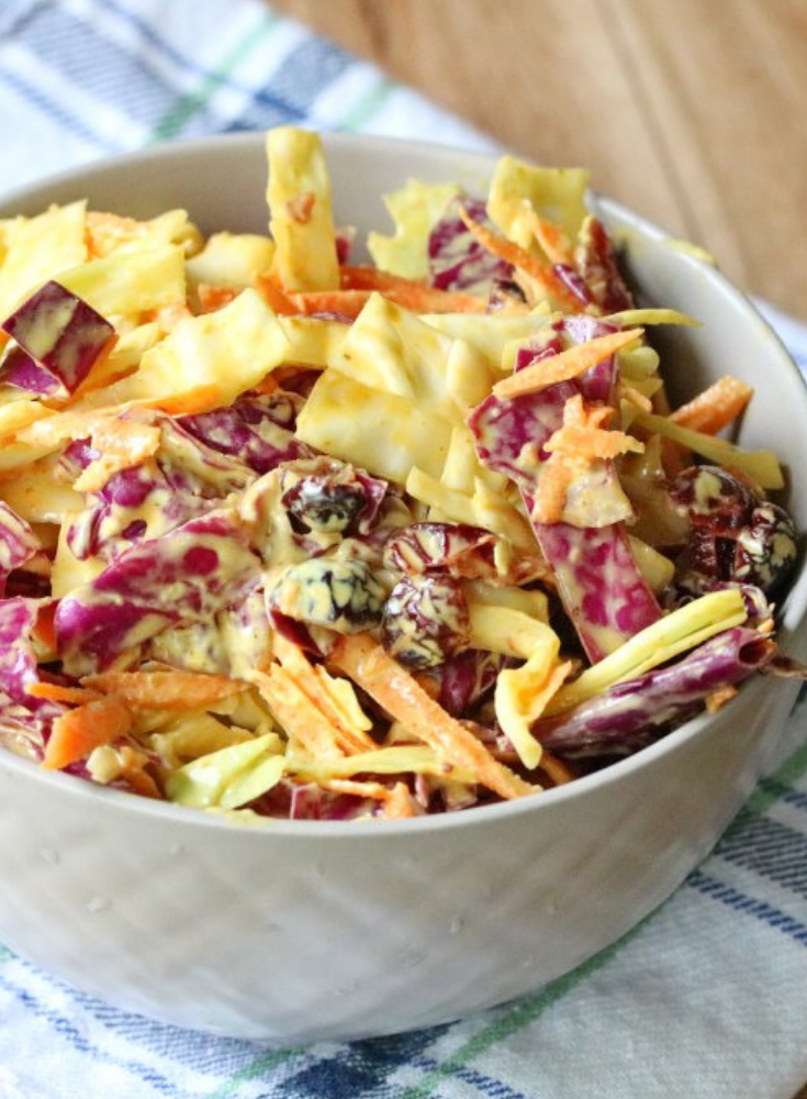 homemade Curried Cranberry Coleslaw