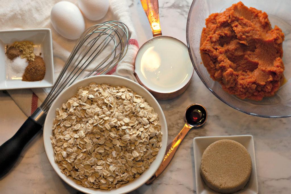 how to make baked pumpkin oatmeal